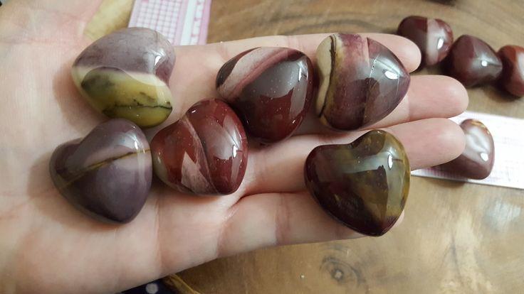 Purple Mookite Heart ~ One 30mm Reiki Infused Heart by Kiliamma on Etsy