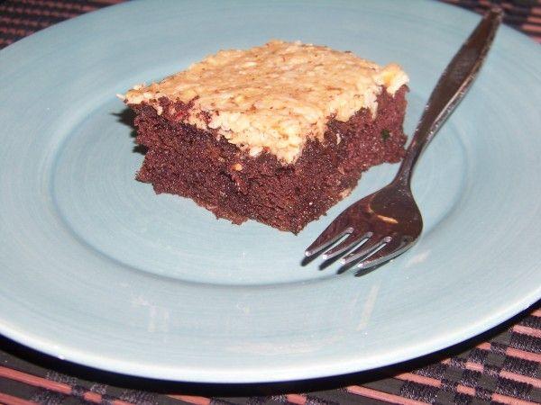German chocolate zucchini cake - low carb