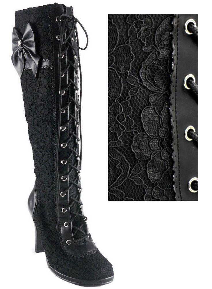 The Violet Vixen - Ribbons N'Lace Love Boots, $128.00 (http://thevioletvixen.com/shoes/ribbons-nlace-love-boots/)