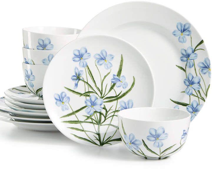 Martha Stewart Collection Closeout Floral 12 Pc Dinnerware Set