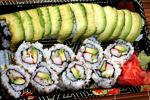 California Roll and Dragon Roll