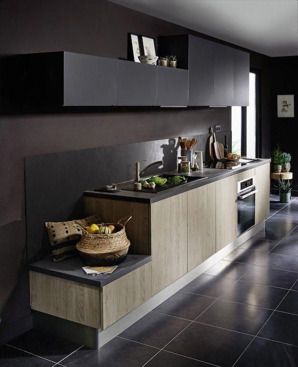 Simple Kitchen 60 Beautiful And Cheap Decoration Tips Cuisine Noire Et Bois Cuisine Rustique Chic Cuisine Tendance