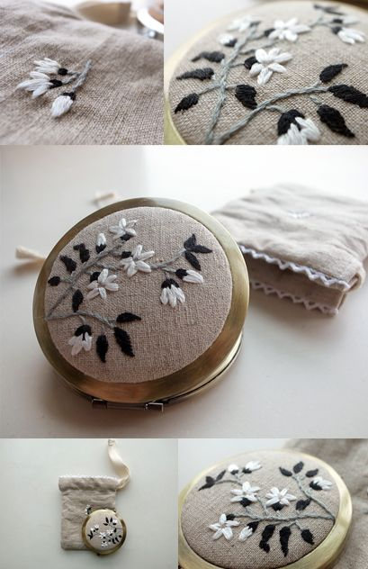This would be a cute idea for ball jar lids and give as gifts.
