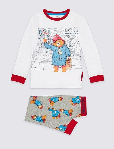 Pyjama en coton à motif Paddington™ (du 9mois au 7ans) | Marks & Spencer London