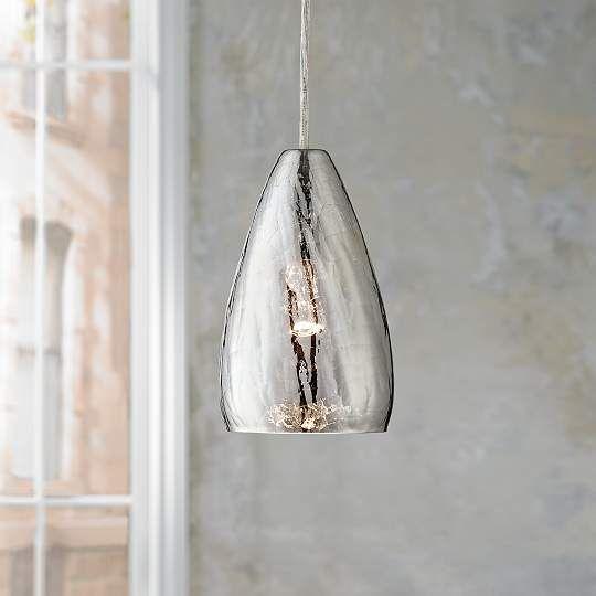 Possini Portico Crackle Glass 5-Inch-W Pendant Light
