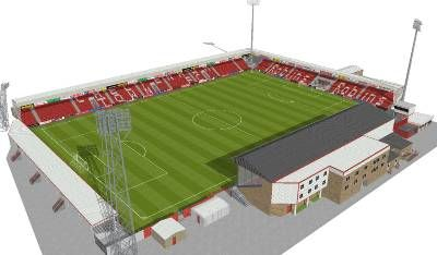 Cheltenham Town F.C. - Whaddon Road - 7.266 tilskurer