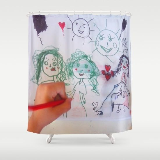 20% Off Free Worldwide Shipping Today #society6 #Christmas #shopping #sales #love #xmas #Noel #clouds #gift #ideas https://society6.com/product/me-and-my-friends-kids-drawing_shower-curtain#s6-6302599p34a35v287