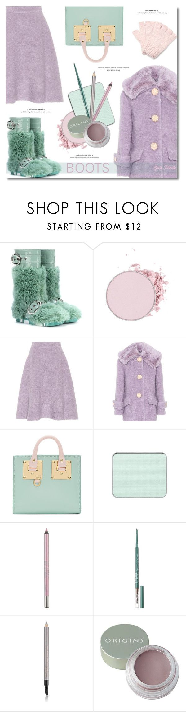 """Boots Fall  .... 2017"" by greta-martin ❤ liked on Polyvore featuring Miu Miu, Sophie Hulme, Urban Decay, Origins, Estée Lauder, The Elder Statesman, Boots, CasualChic and pastels"