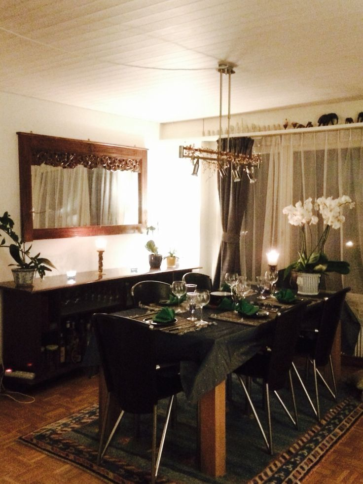 Cozy candle light dinner @ home