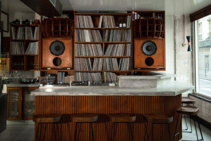 Bambino Paris Fabien Lombardi Restaurant Design Inspiration Restaurant Vinyl Cafe