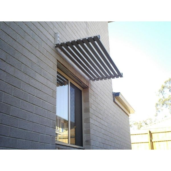 Horizontal Slat awnings are made to window standard window sizes for