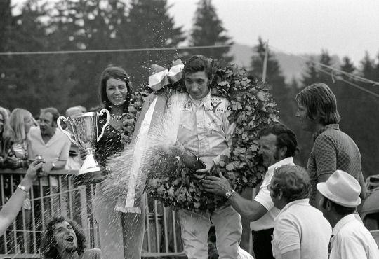 Jo Siffert (Yardley BRM P160) vainqueur du Grand Prix d'Autriche - Zeltweg 1971