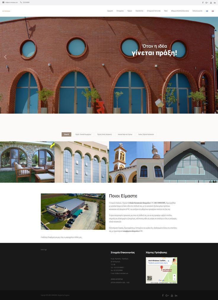 ARCH WINDOWS - Creation of dynamic website