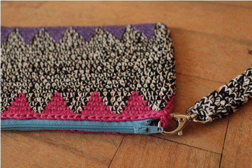Multifunkční taštička ... crochet clutch purse