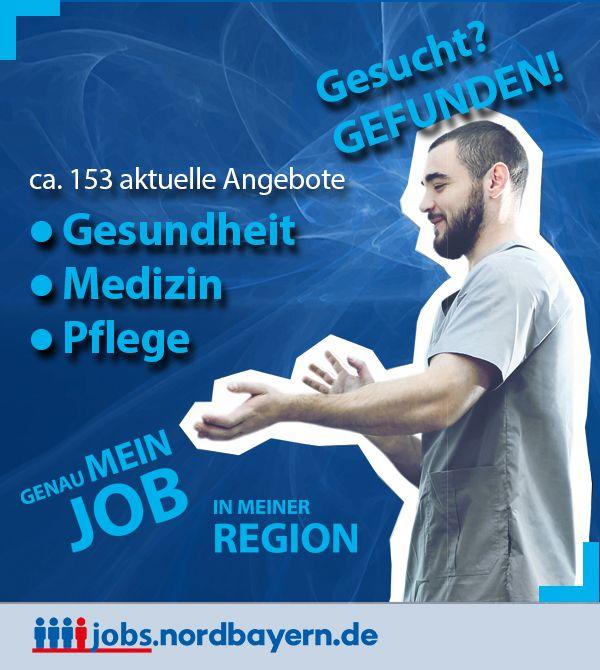 In den Bereichen Gesundheit, Medizin und Pflege finden Sie derzeit etwa 153 Jobangebote in unserem Stellenportal.  Jobs, Jobbörse, Stellenanzeige, Stellenanzeigen, Stellenangebote, Jobs, Jobangebote, Stellenmarkt für den Großraum Mittelfranken, Nürnberg, Fürth, Erlangen, Schwabach