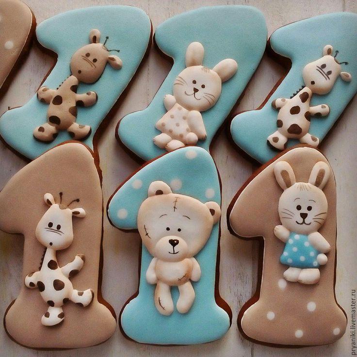 """Hand painted gingerbread / Купить """"На один годик"""" архангельские пряники козули расписные. - пряники, пряник, расписные пряники"""