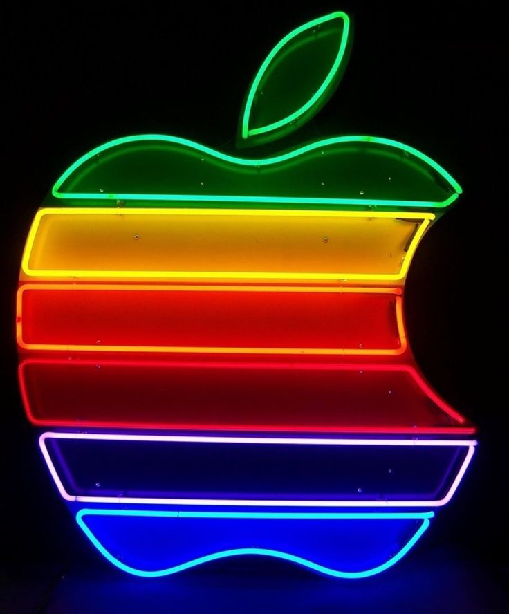 Pin by Lisa Basina on Apple logo in 2020 Neon glow Neon