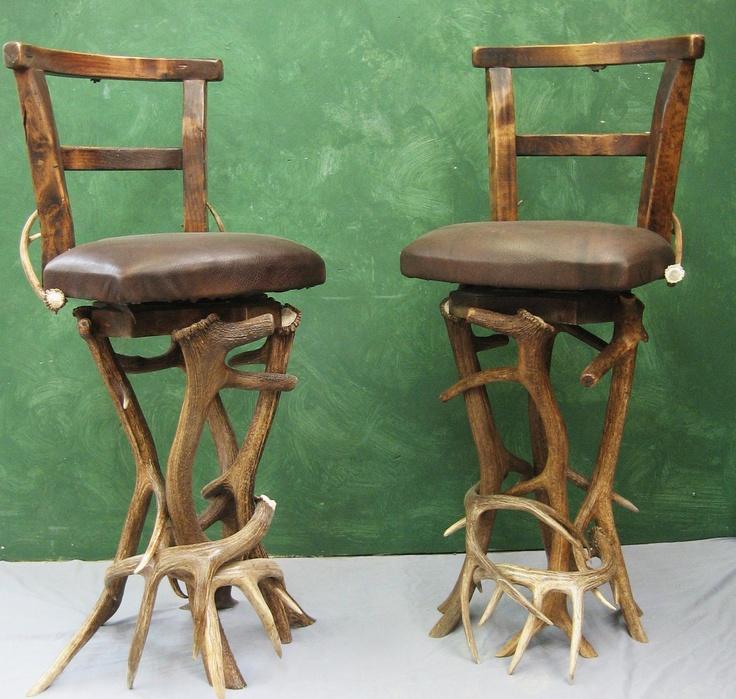swivel antler bar stools deer antler ideas pinterest