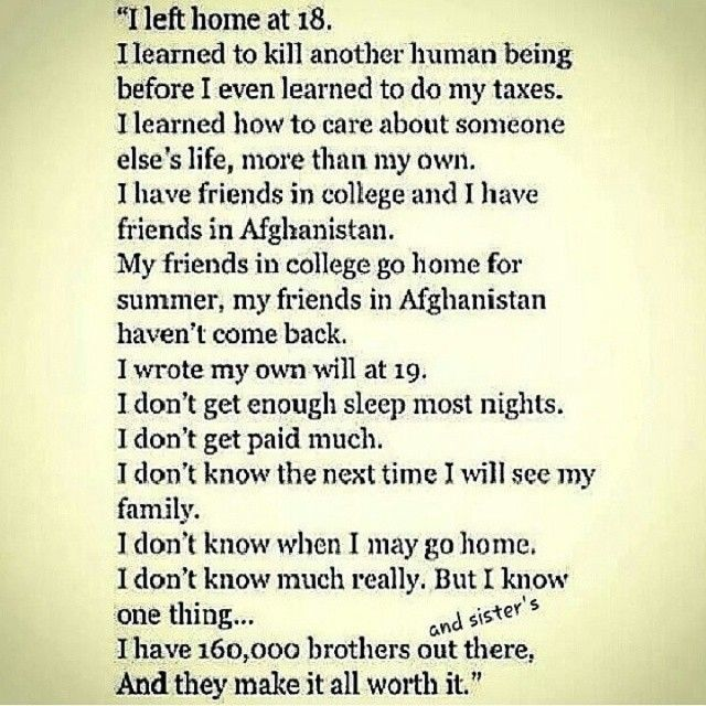 I can't help but think of how true this is of my son.  Only seen him 3 times over the past three years and so look forward to the next time - it can't come soon enough.  Semper Fi, carry on, see you soon.