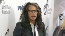 Steven Tyler walks the red carpet before Saturday's David Foster Foundation Miracle Gala and Concert at the WestJet Hangar.  Read more: http://calgary.ctvnews.ca/steven-tyler-adds-additional-star-power-to-david-foster-foundation-miracle-gala-in-calgary-1.2028004#ixzz3EdDqm8Yh