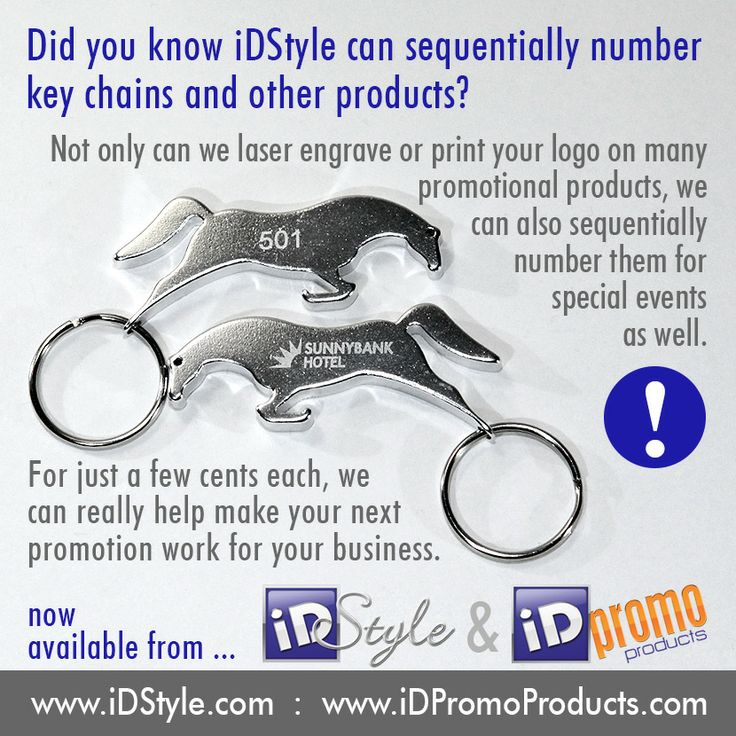 """Sequential Numbering  Did you know that many products can be sequentially numbered for your next promotion?  What an excellent way to run a competition or offer special """"Members Only"""" benefits to your regular customers.  www.iDPromoProducts.com"""