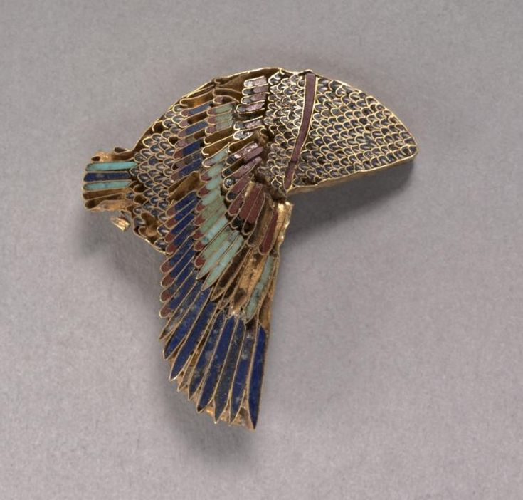 Vulture Headdress Inlay, 100-1 BC                                                Egypt, Ptolemaic Dynasty