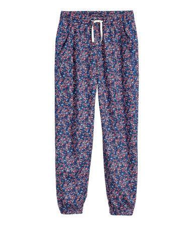 Mønstrede bukser | Mørkeblå/Blomstret | Børn | H&M DK