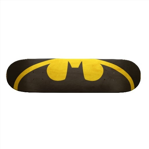 Batman Bat Logo Oval Skate Board Deck.  $71.95