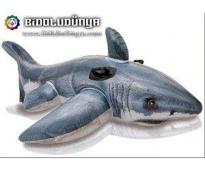 Ürün Bilgisi Şişirilmiş haldeki ölçüleri: 173x107 cm 0,25 mm kalınlığı En Ucuz İntex 57525 Köpek Balığı Binici   Denizde veya havuzda tüm gözler çocuğunuzun üzerinde, İntex Köpekbalığı şişme binici gerçek köpek balığı tasarımı sayesinde çok havalı. Yüksek kaliteli viniyl malzeme ve dünyaca ünlü İntex deniz ürünleri markasının kalitesi ile güvenle uzun yıllar kullanılabilir. Yan kısımlardaki ergonomik tutamaçları sayesinde çocuklar üzerinde kaymadan rahatlıkla durabilecek.