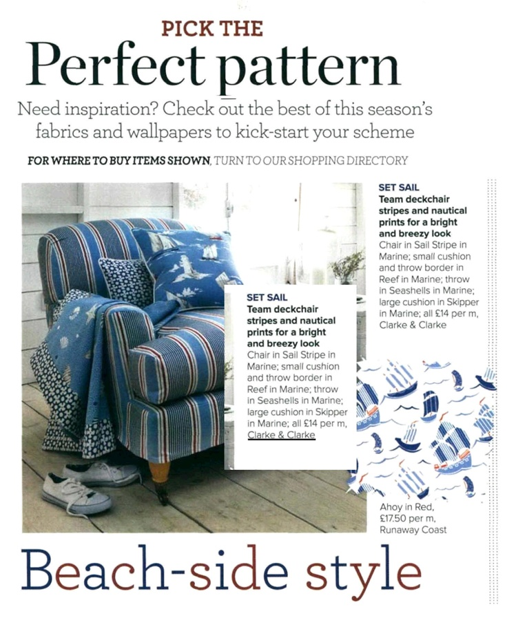 Perfect Pattern: Beach-side style (Ideal Home August 2012)
