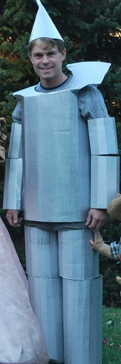 Tin Man Costume - No tin was harmed in the making of this cardboard costume! - Click Pic for More Ideas - #Mens #Halloween #Costumes
