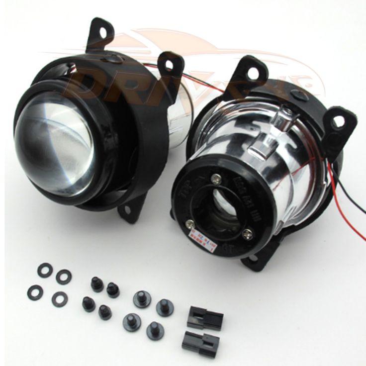2.5 inch Bi-Xenon HID Car-Styling Fog Light Car Projector Lens Hi/Lo Universal Fog Lamp Retrofit H11 Bulbs Motorcycle