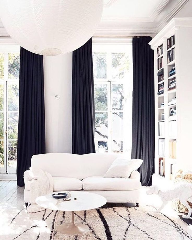 """2,824 Likes, 16 Comments - LIKEtoKNOW.it (@liketoknow.it) on Instagram: """"Minimalistic decor and dark curtains, take a tip on chic monochromatic @liketoknow.it.home decor a…"""""""