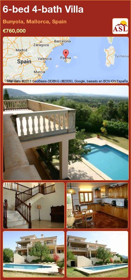 6-bed 4-bath Villa in Bunyola, Mallorca, Spain ►€760,000 #PropertyForSaleInSpain