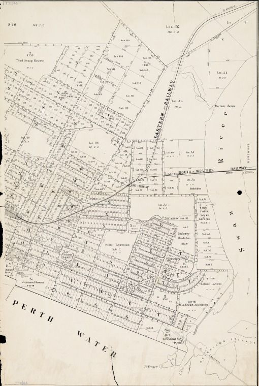 PERTH, Sheet 2. Cadastral map covering area bounded by North Perth, Subiaco, Mt. Eliza, East Perth and Mount Lawley. Part of collection: Townsite maps, Western Australia. https://encore.slwa.wa.gov.au/iii/encore/record/C__Rb1959691