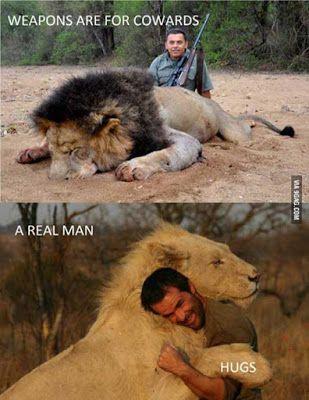 """""""O GRITO DO BICHO"""": Imagem do dia: Um covarde e um homem de verdade......"""