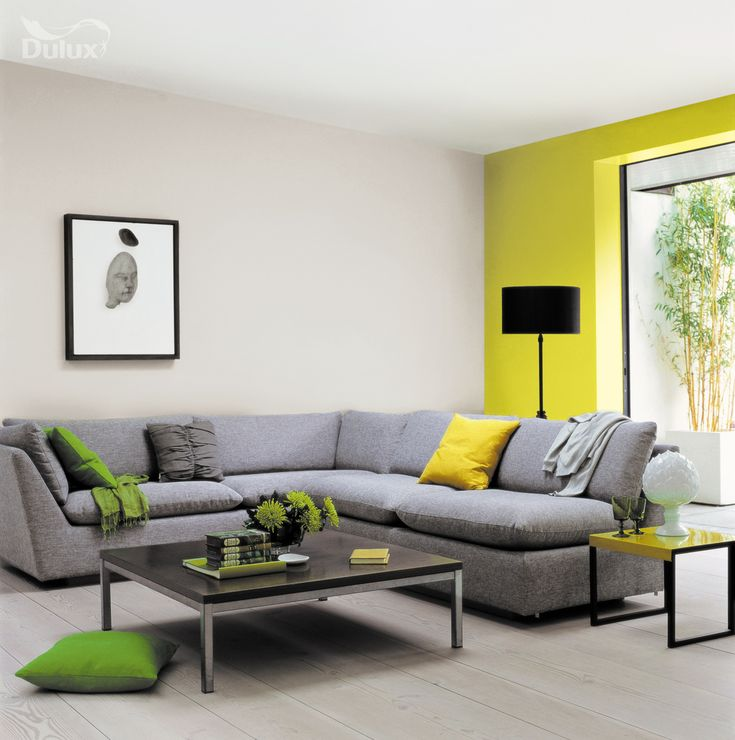 Decorating Ideas Dulux: Corner Sofa And Colour Pop Wall.