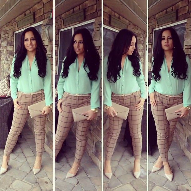 Olivia's OOTD: shirt & pants from Forever21, clutch & shoes from Aldo. #Jerseylicious