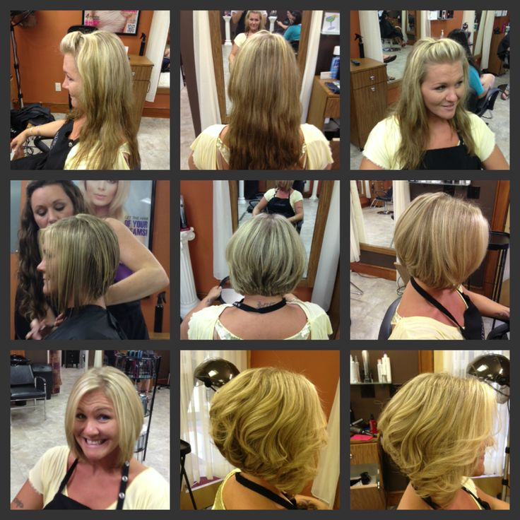 Before & After Angled Bob Haircut | Tresses Salon Pictures ...
