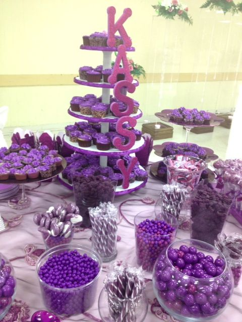 25 Best Ideas About Purple Candy Bar On Pinterest