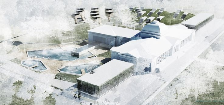 "Architecture House Competition architecture competition ""rebirth of the bath house"" honourable"