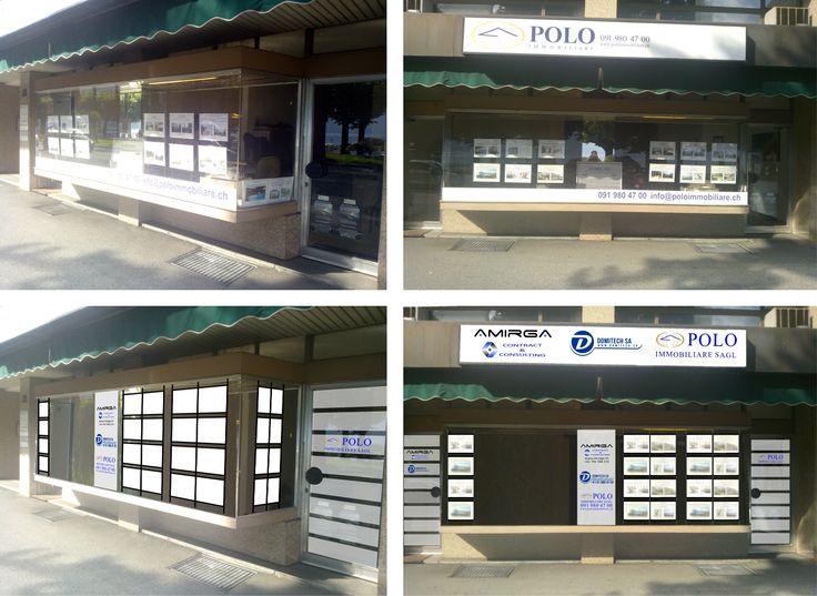 Rendering vetrina agenzia immobiliare - Lugano