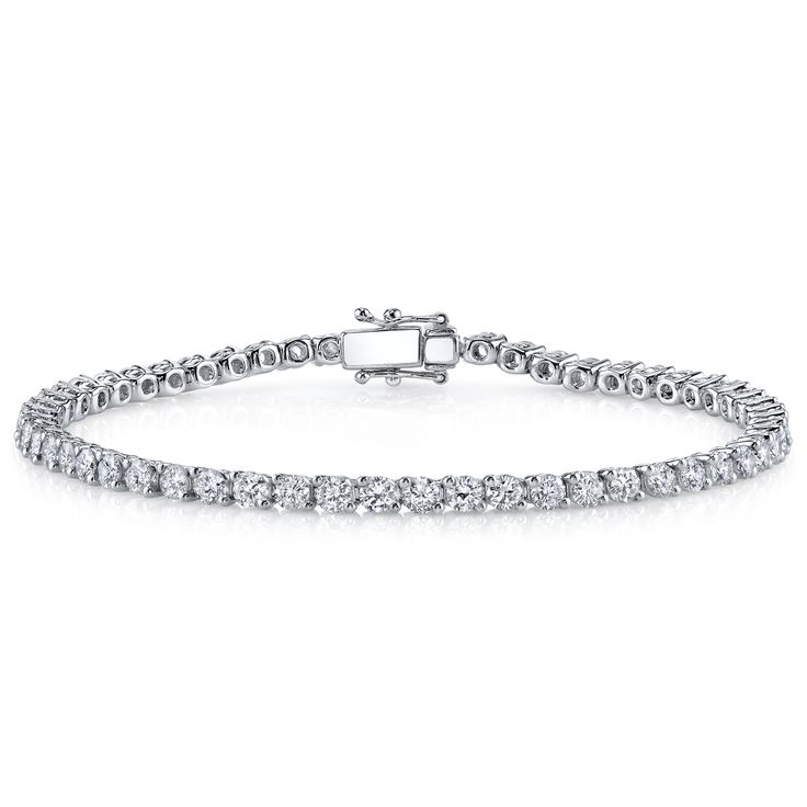 OMG I LOVE THIS!!! 18k Gold 3ct TDW Diamond Tennis Bracelet