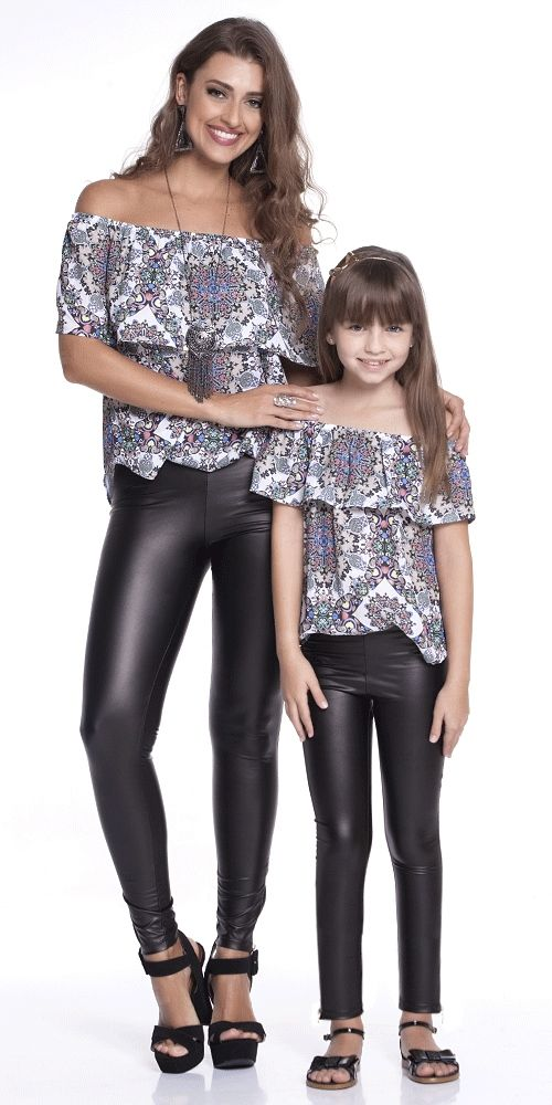 Calça Ziper Preta Adulto | OLIVIAS TAL MÃE E FILHA | Olivias #mãeefilha #roupasiguais