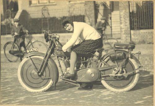 historicaltimes:   Woman on a Harley-Davidson Sport 20-J, ca. 1920s  via reddit