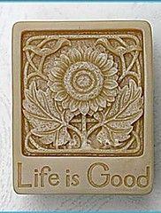 η ζωή είναι καλή λουλούδι εργαλεία DIY κέικ φοντάν σοκολάτας διακόσμηση κέικ μούχλα σιλικόνης, l6.6cm * w5.2cm * h2.3cm