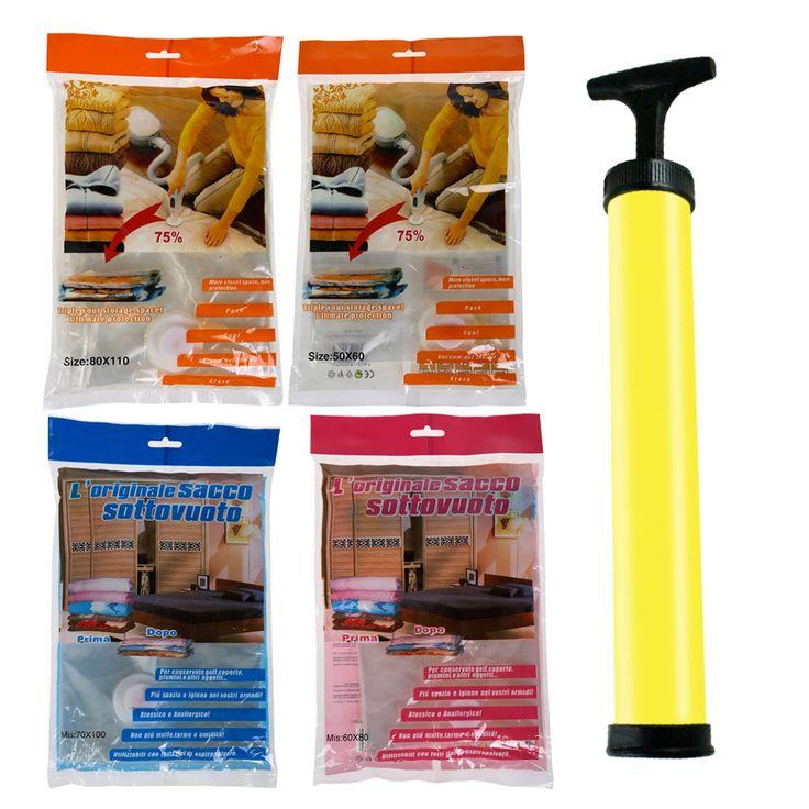Space Saver Saving Storage Vacuum Seal Compressed Organizer Package Bag