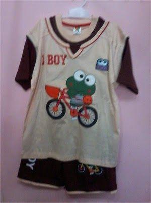Pakaian Anak: Baju stelan anak laki merk little boy