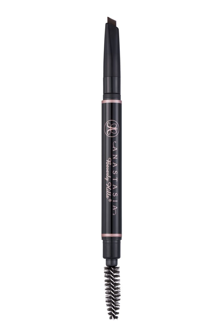 Anastasia Beverly Hills Brow Definer Why we want it: If you're on a quest for ultrabold brows, this thick pencil has you covered. It has a wide triangular tip that allows you to shape, fill, and define in one motion. To keep your arches from looking too severe, brush the product through with the spoolie on the other end.