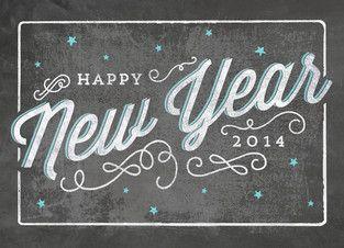 Happy New Year Chalkboard Art